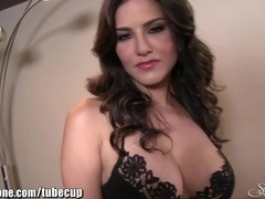 SunnyLeone Sunny Leone all alone at home fingering!