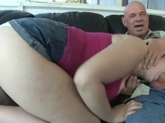 Chubby Chick With Big Tits Man Handled