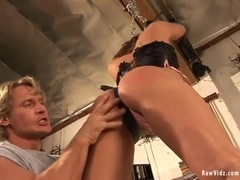 RawVidz Video: Brunette Babe Is Tied Up & Banged