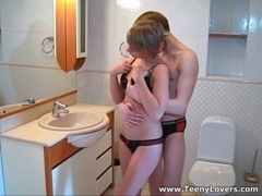 Loud sex in a bathroom