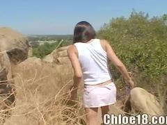 Chloe Masturbates In Public