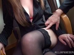 Risa Arisawa naughty Japanese chick has sex at the office