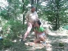 Grandpa fucked me in the woods