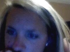 Cum on nerdygirl's ass on xxx webcam