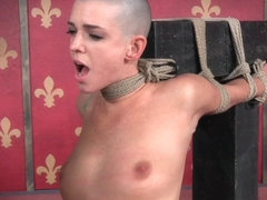 Whipped tiedup submissive punished with nt