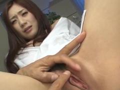 Kaori Maeda receives toys in both her creamy holes