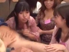 Hottest Japanese girl in Best Lingerie, Gangbang JAV video