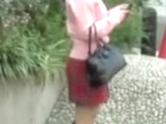 Cute Japanese girl in a smutty sharking video in public
