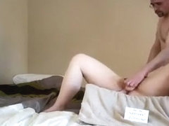 Chubby blowjob and dildo in pussy
