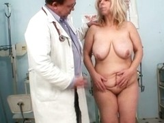 mom gets her both holes properly checked by a gynecologist