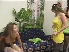 Karma lesbian threesome