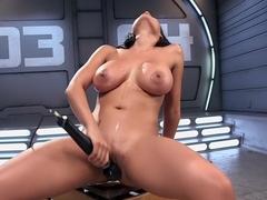 Amazing fetish, latina xxx video with hottest pornstar Luna Star from Fuckingmachines
