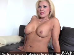 Huge tits Milf banged in uk casting