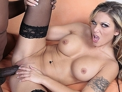 Interracial hot sex with Anna Nova fucked hot