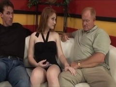 Teenager Charly Red Screwed By two Mature Boy-Friends