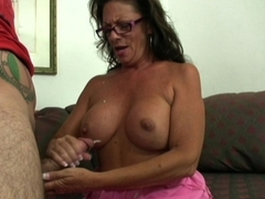 Grandma's Cock Jerking Approval