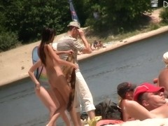 Nudist beach free scenes with incredible naked boobs