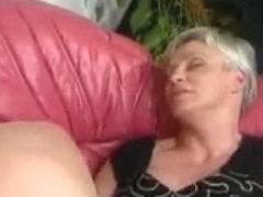 Hairy granny in stockings slammed very hard