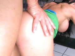 Rampant Jewels loves getting her juicy moist pussy crammed with thick hard...