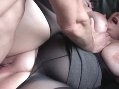 Bigtitted busty brit subs while pounded