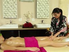 Best pornstars Shana Lane, Romi Rain in Crazy Massage, HD sex movie