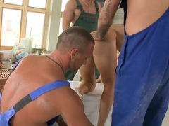Aletta Ocean is the special salary at work for the manly guys