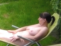 Naked backyard neighbor