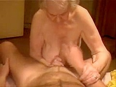 Having fun with a very old german slut