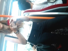 Train Perving - Long Haired Cutie