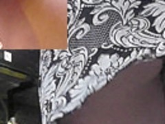 She didn't know that upskirt spy cam was filming her