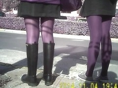 Shiny Black Pantyhose Girls