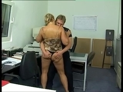 Fat German cougar arse-drilled in the office (Sid69)