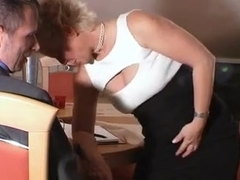 Mature slut in stockings gets her butt nailed