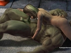 Hulk smashes a tight wet pussy
