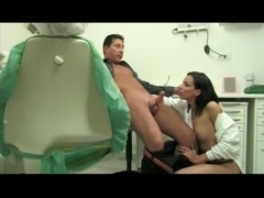 Naughty nurse gets her patient.s spunk on her face
