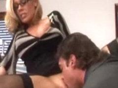Sexy Breasty Secretary Hard Screwed by Boss