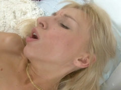 Teen Constance takes dick in both holes