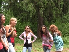 Albina & Hailey Ariana & Felony & Lindsey & Francheska & Angela in outdoors sex video with hot stu.