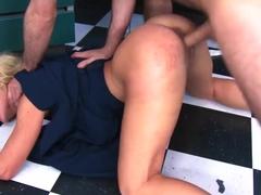 Nasty blonde Cherie Deville sucks James Deen's cock