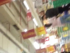 spy pregnant sexy ass in supermarket romanian