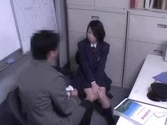 Hot Japanese floozy got fucked by a horny policeman