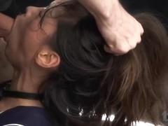 Reika's brutal face fuck