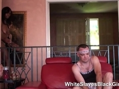White Guy Dominated by Two Dark ladies