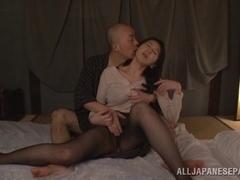 Hitomi Oohashi arousing mature Asian model tit fucks
