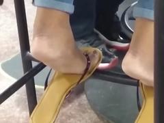Candid Ebony Feet in Cafeteria 6
