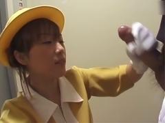 JP Appealing elevator operator Rika Uehara by zeus4096