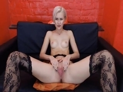Pussy play with her dildo