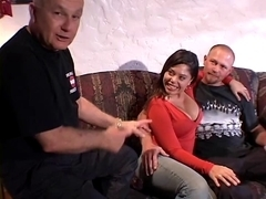 Lewd latin babe muff screwed by built guy whilst her spouse watches with ally