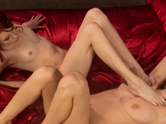 Hottest lesbian, fetish adult clip with amazing pornstars Elle Alexandra and Natalia Starr from Footworship