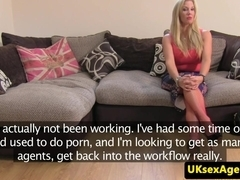 UK casting amateur gets her asshole creampied